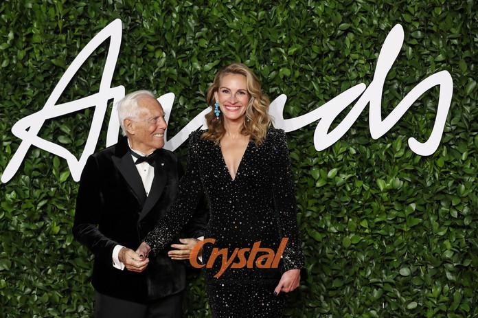 Giorgio Armani et Julia Roberts, Fashion Awards, Londres.