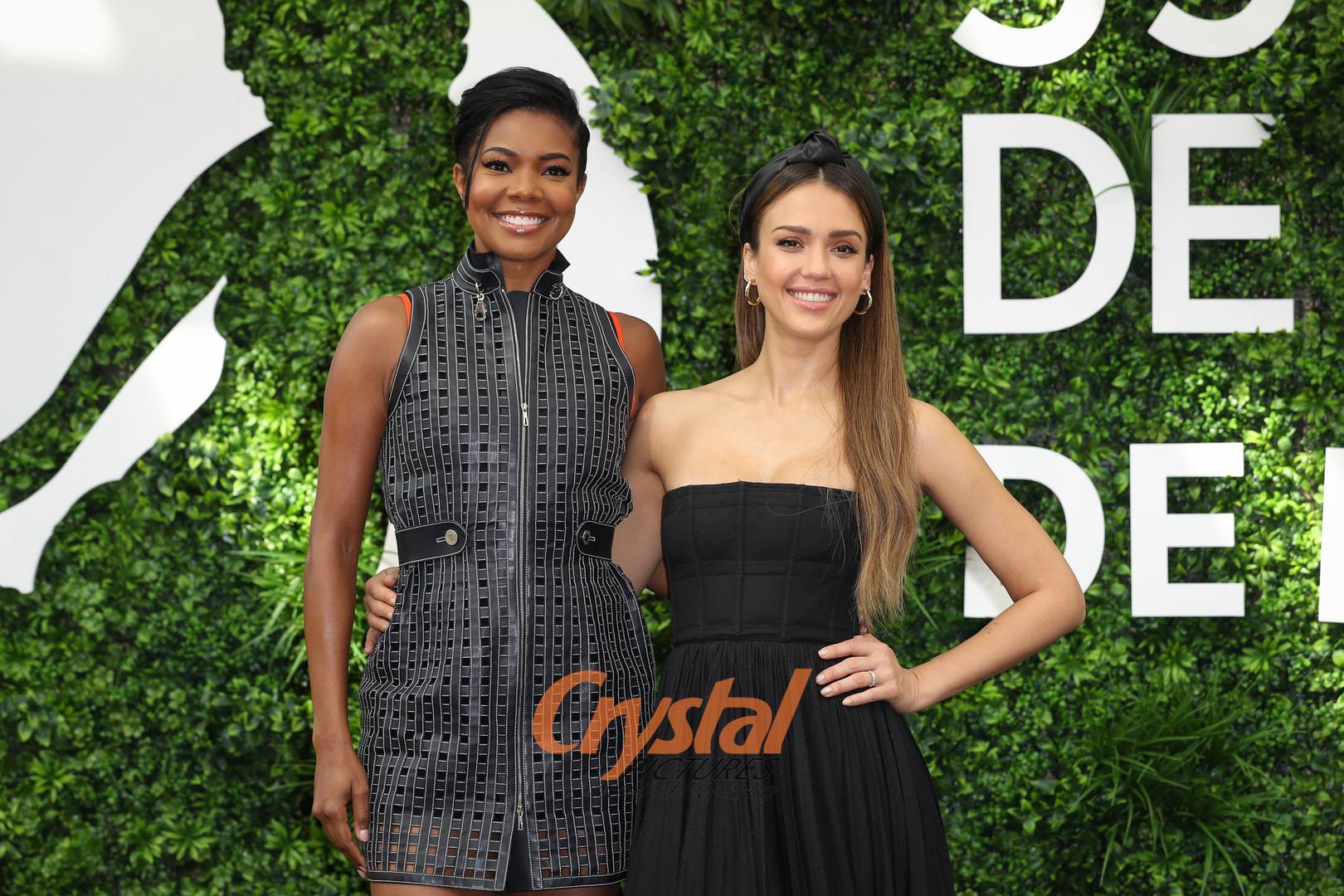 Gabrielle Union et Jessica Alba, Festival TV Monte-Carlo.