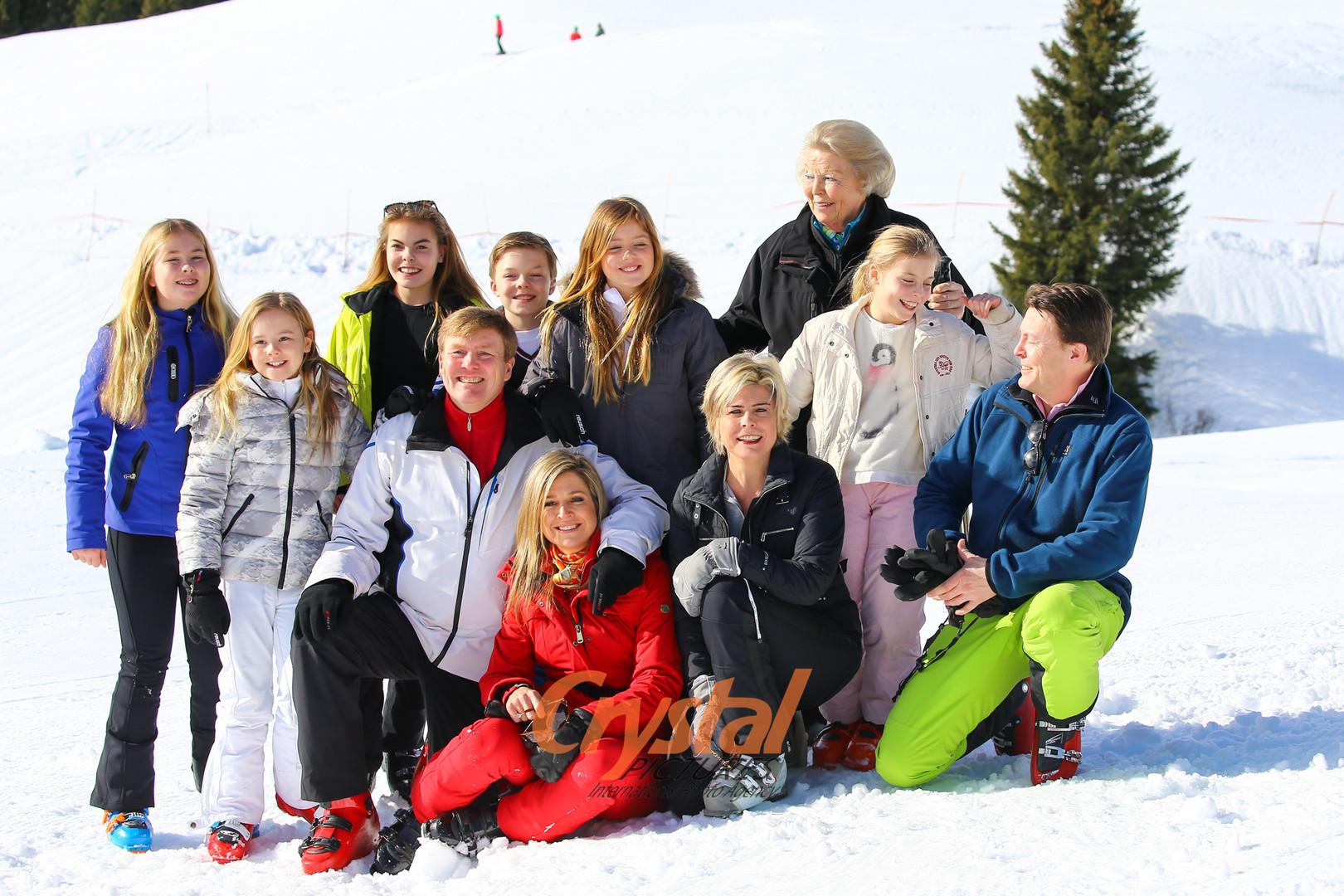 Photocall Famille Royale des Pays-Bas à Lech, en Autriche.