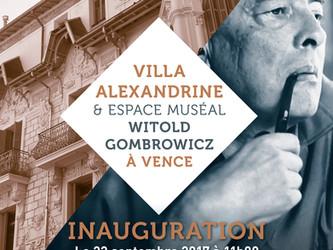 Vence célèbre Gombrowicz à la Villa Alexandrine