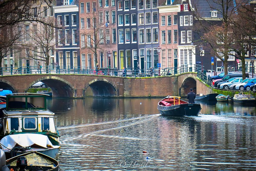 Amsterdam et ses canaux. Photo © Olivier Huitel.