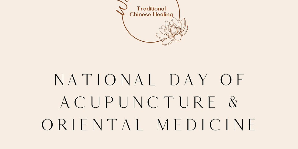 National Day of Acupuncture & Oriental Medicine