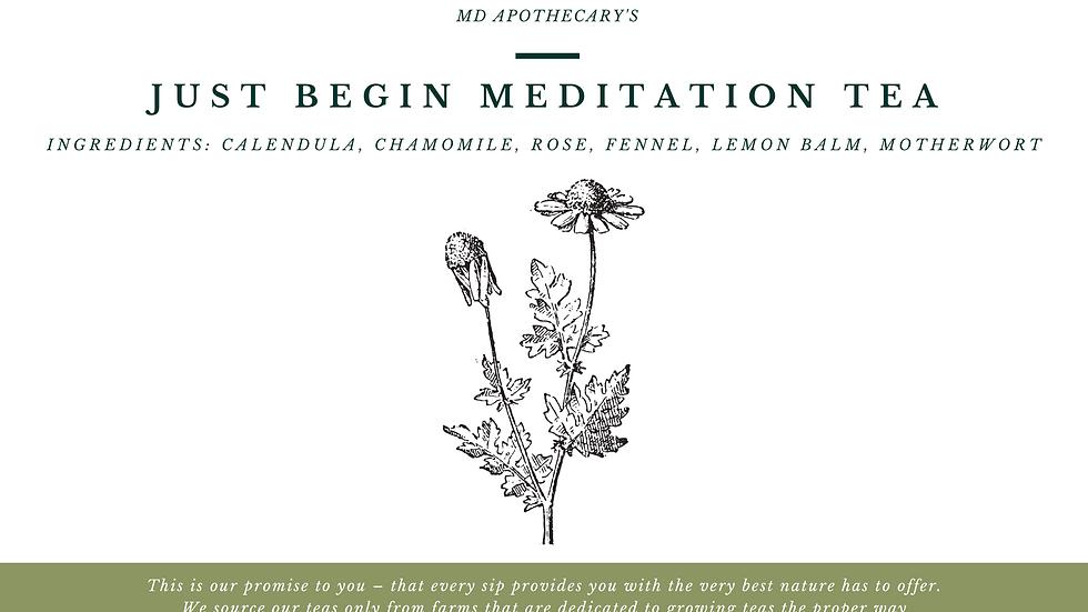 Just Begin Meditation Tea