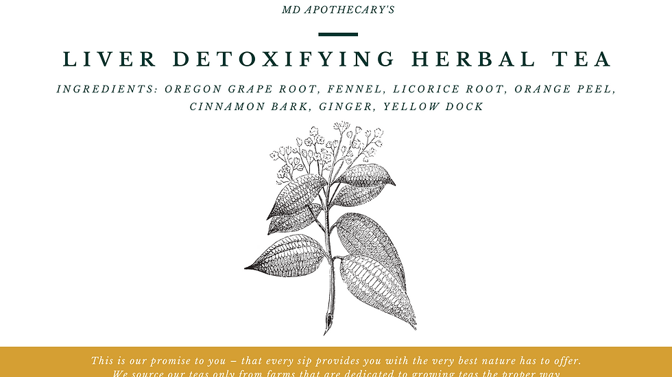 Liver Detoxifying Herbal Tea