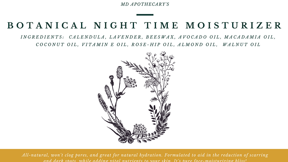 Botanical Night Time Moisturizer