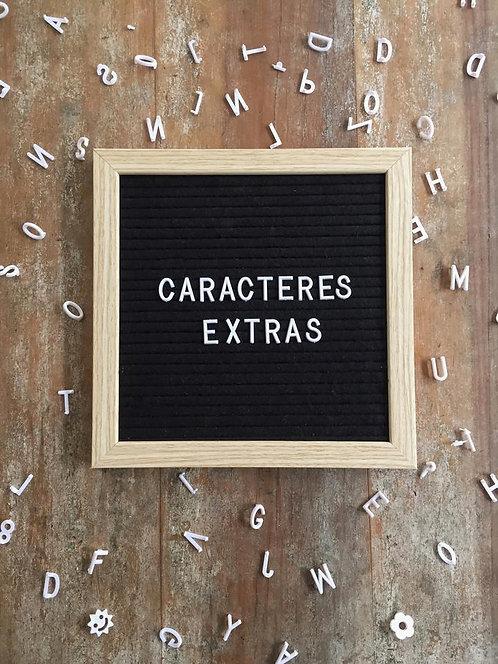 Caracteres Extras