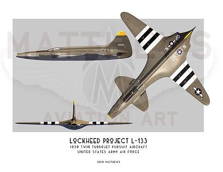 Lockheed L-133 Blueprint Poster