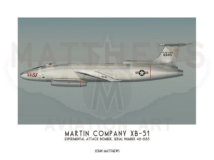 Martin Company XB-51 Profile