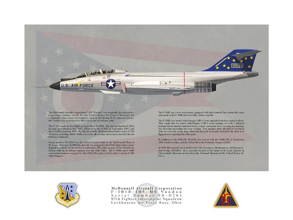 87th Fighter Interceptor Squadron McDonnell F-101B Voodoo