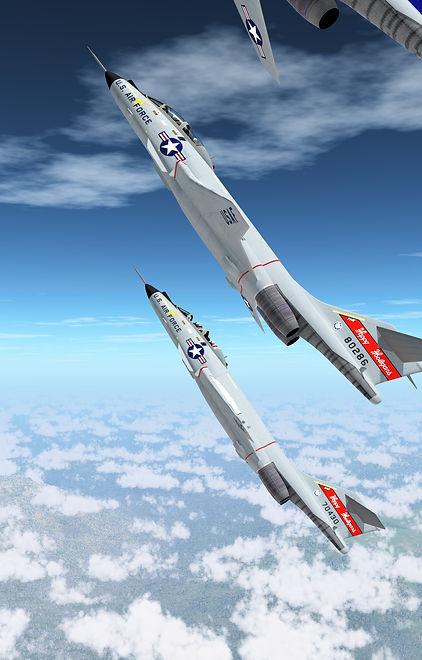 "McDonnell F-101 Voodoo interceptors of the 178th Fighter Interceptor Squadron (""The Happy Hooligans"")"