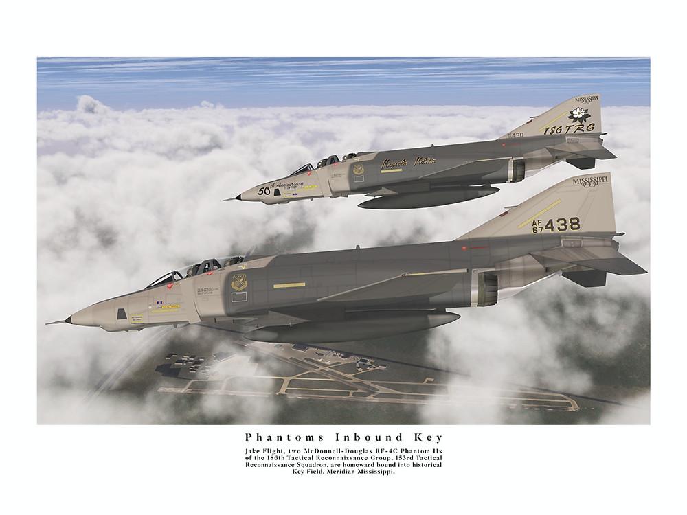 RF-4C Phantom 67-0438 inbound to Key FIeld