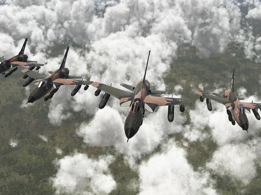 Republic F-105D Thunderchief Formation
