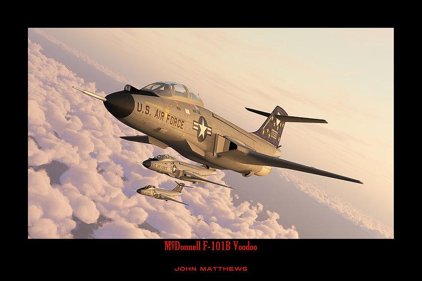 McDonnell F-101B Voodoo Interceptors of the USAF 87th Fighter Interceptor Squadron in Columbus, Ohio