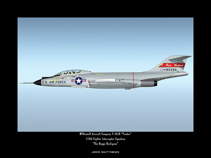 """Happy Hooligans"" McDonnell F-101B Interceptor Profile"
