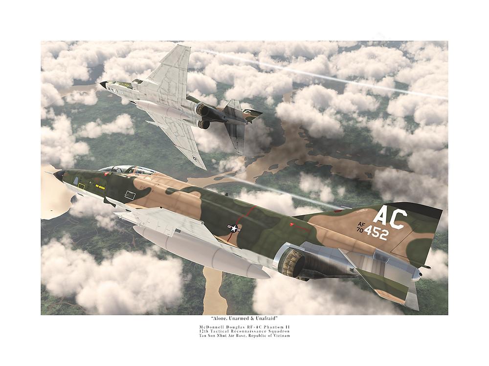McDonnell Douglas RF-4C Phantoms of the 12th Tactical Reconnaissance Squadron
