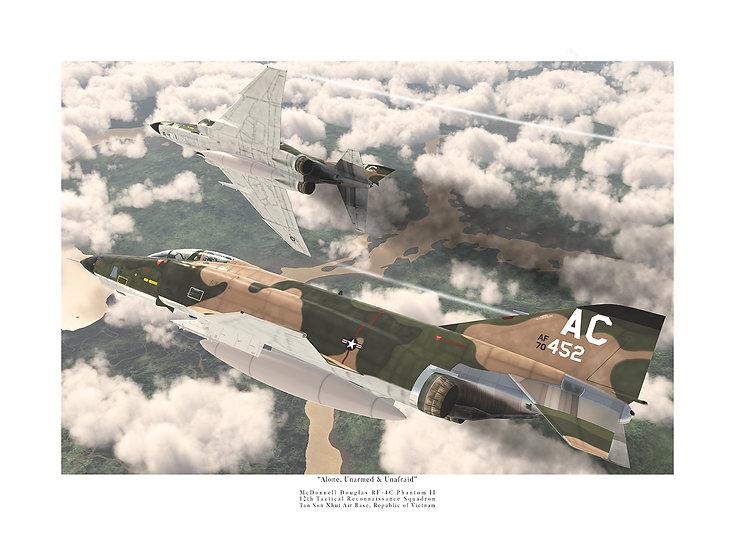 """""""Alone, Unarmed, & Unafraid"""" 12th TFS RF-4C Phantoms"""