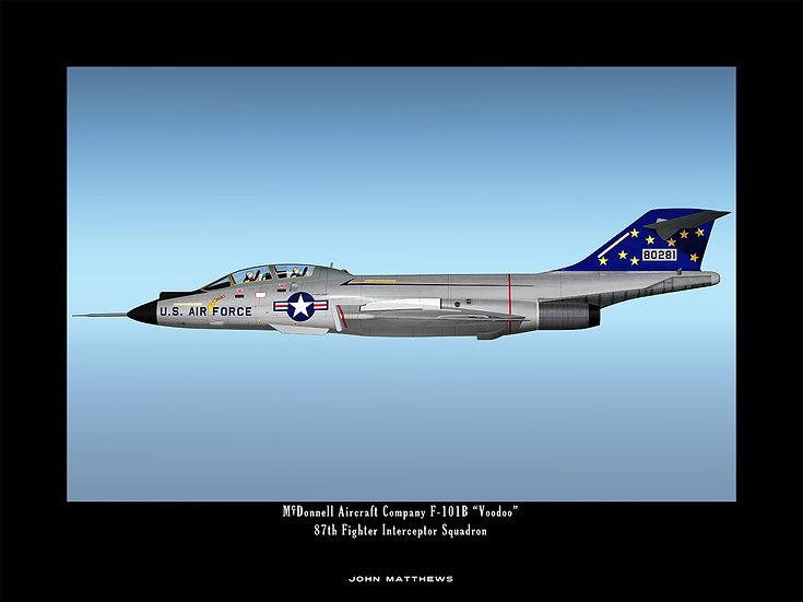 McDonnell F-101B Voodoo 87th Fighter Interceptor Squadron Profile