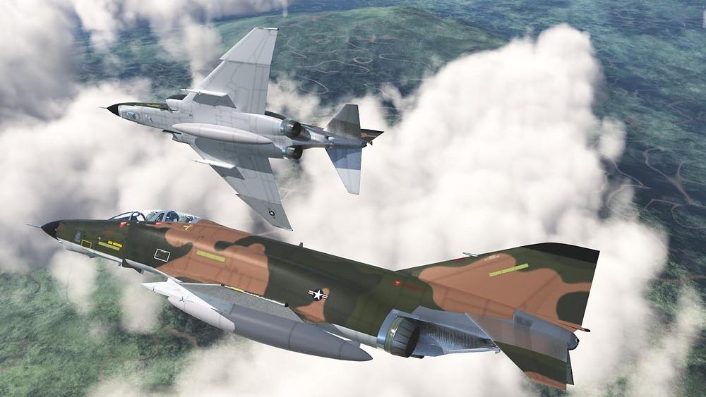McDonnell Douglas RF-4C Phantom reconnaissance fighters.