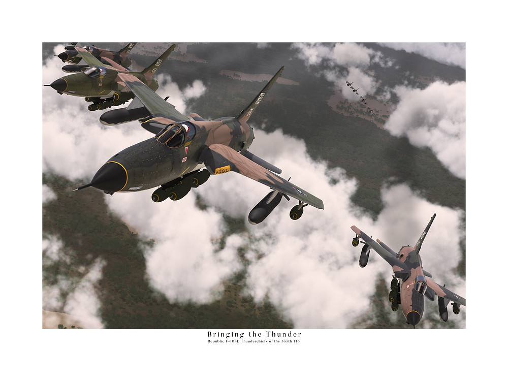 357th TFS Republic F-105D Thunderchiefs