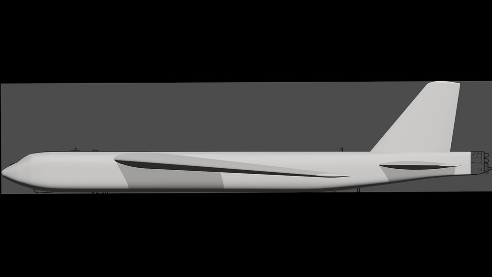 B-52H 3D model side image