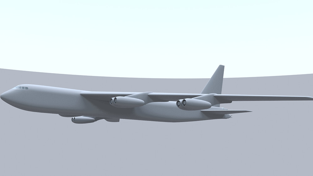 Boeing B-52 Stratofortress 3D model (port side)