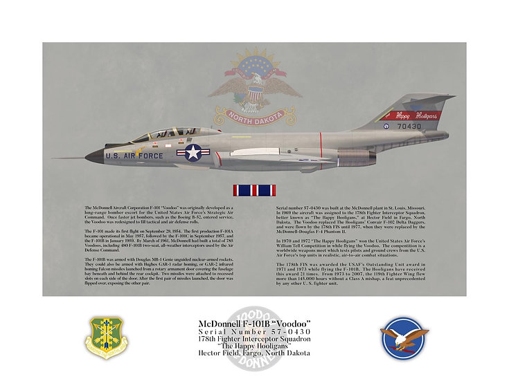 """Happy Hooligans"" McDonnell F-101B Interceptor Profile"