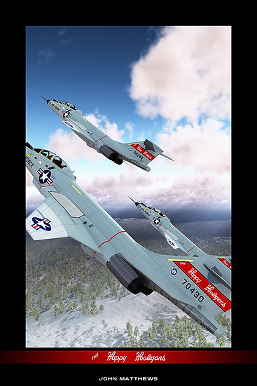 USAF Air National Guard Happy Hooligans McDonnell F-101B Voodoo Poster