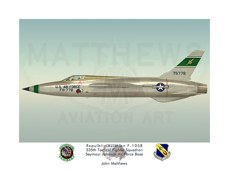 Repulbic F-105B Thunderchief (335th TFS)