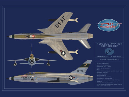USAF F-105B Blueprint posters now available!