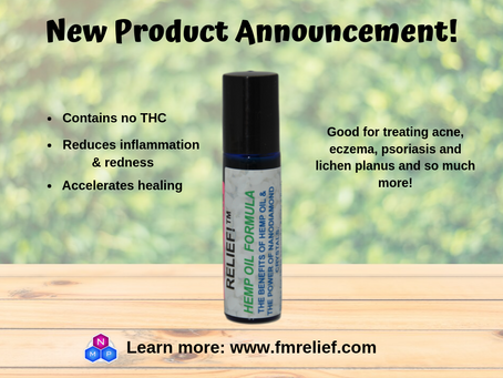 RELIEF!™ Diamondized™ Hemp Seed Oil: The THC-Free Alternative