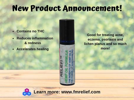 RELIEF!™ Diamondized™ Hemp Seed Oil: The THC-Free Alternative
