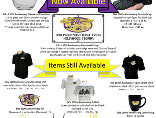 Elks 150th Anniversary Merchandise