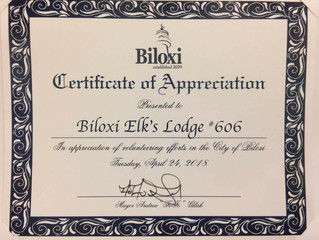 Biloxi Lodge wins Volunteer of the Year from City of Biloxi