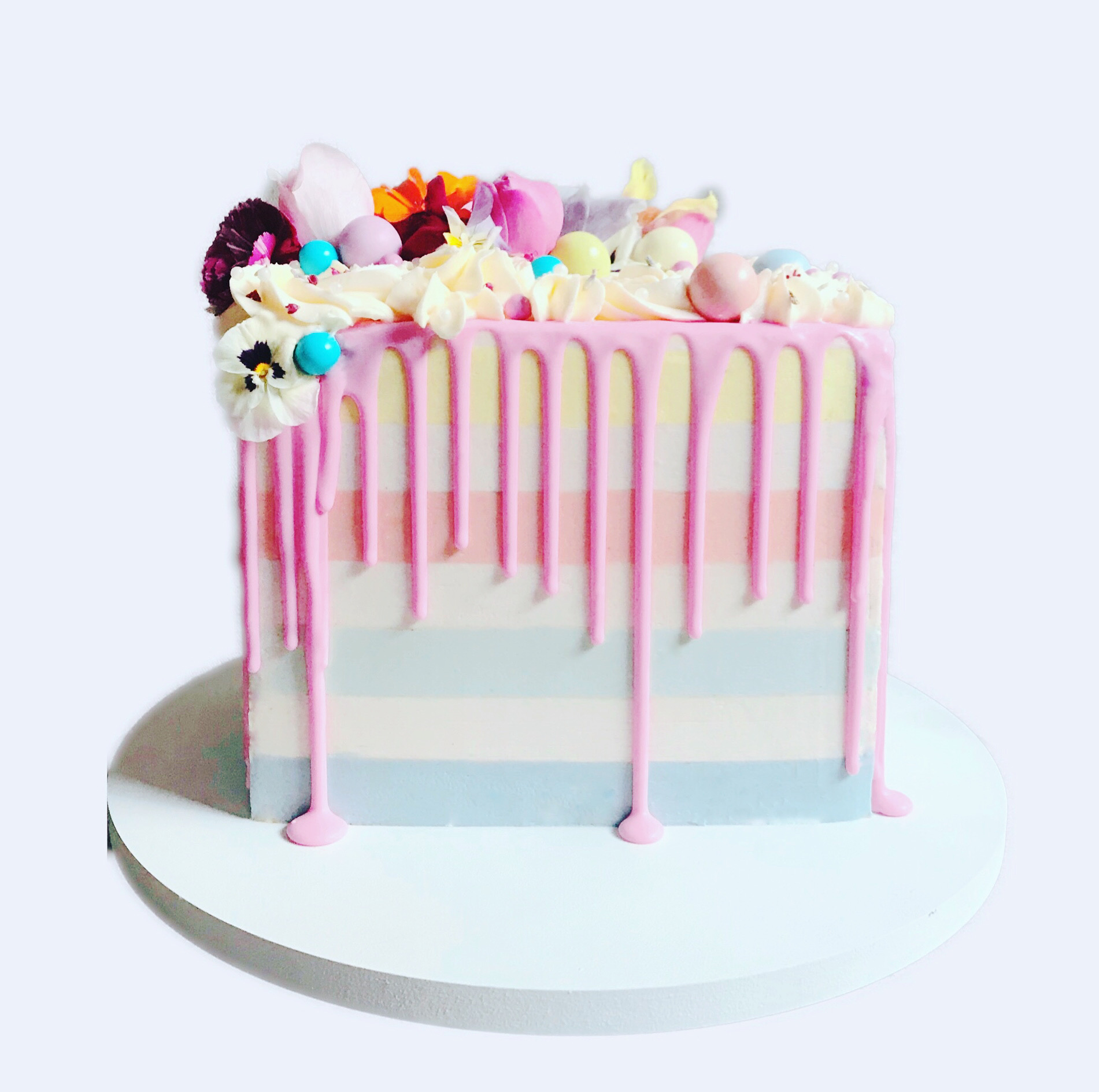 Pastel Pride Drip Cake