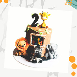 Jungle Animal Cake from our Mini Bundle