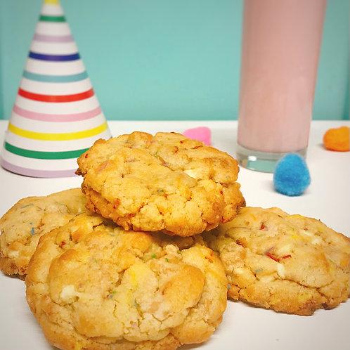 NY Birthday Cake Cookies
