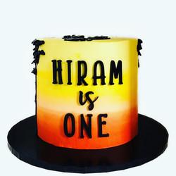 Hiram is one Lion King Cake