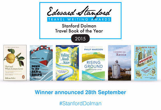 Shortlist for the Stanford Dolman Travel Book of the Year announced