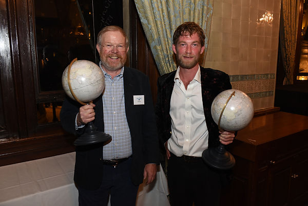 Bill Bryson & Horatio Clare - winners at the Edward Stanford Travel Writing Awards 2015