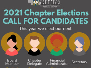 2021 Chapter Elections CALL FOR CANDIDATES!