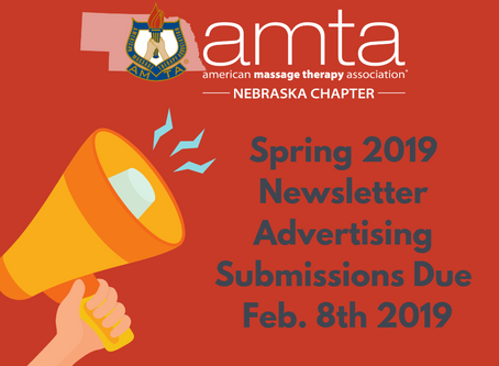 Spring 2019 Newsletter Advertising Submissions Due Feb. 8th