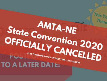 AMTA-NE 2020 State Convention Officially Cancelled