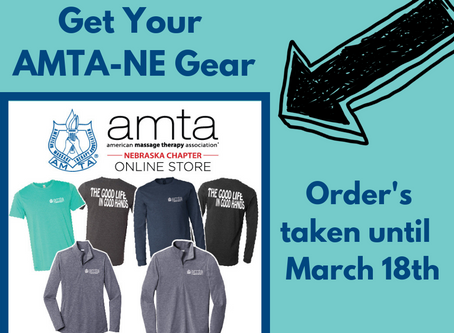 Get your AMTA-NE Gear. Hurry Ordering Ends Soon!