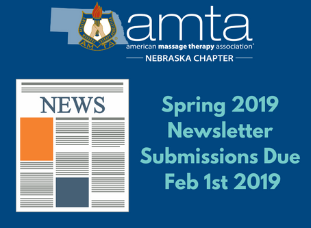 Spring 2019 Newsletter Submissions Due Feb. 1st