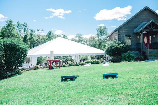 Corn hole Wedding tent