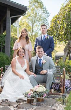 Bride, Groom, Maid of Honor & Best Man