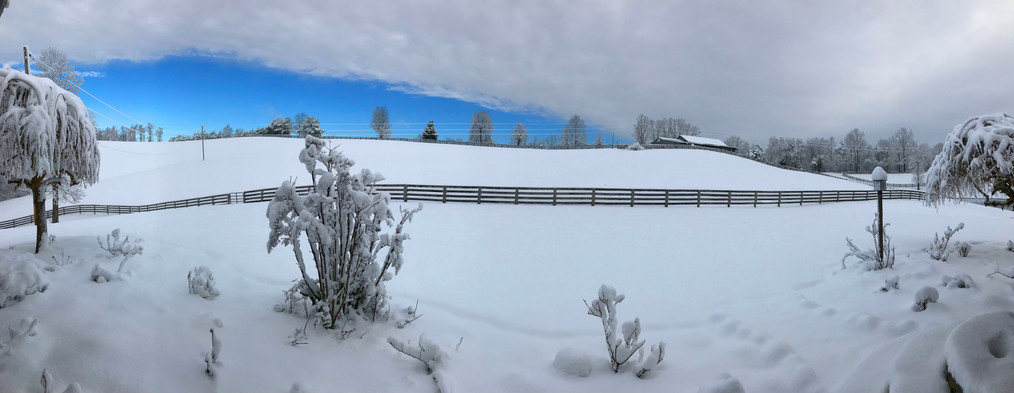 Snow front field