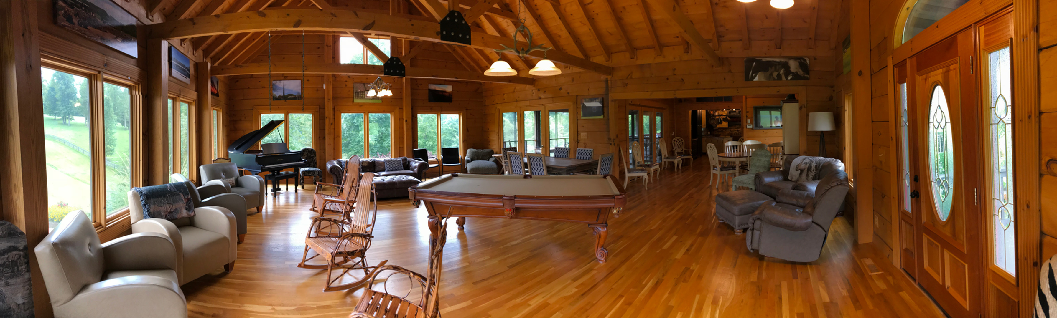 Lodge great room pool table