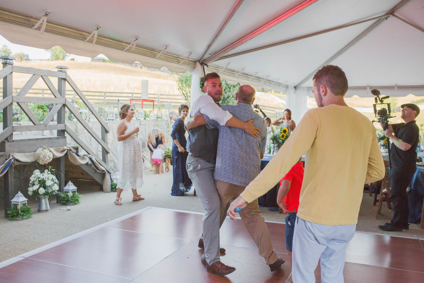 Groom & father-in-law dance