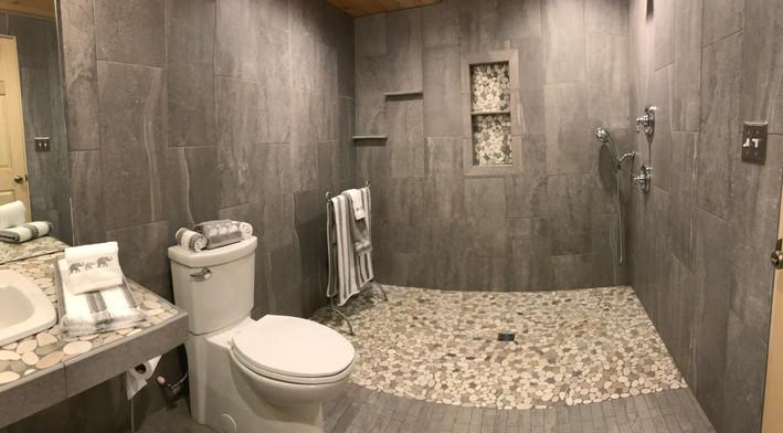 Lodge bathroom rock handicap